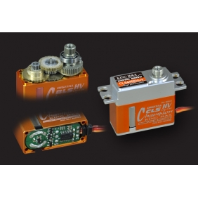 CLS4406HHV---Ultra performance, 43g digital full CNC aluminium hulls mini coreless high voltage servo