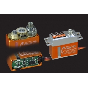 CLS4411HHV---Ultra performance, 43g digital full CNC aluminium hulls mini coreless high voltage servo
