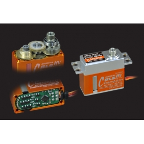 BLS4406HHV---Ultra performance, 44g digital full CNC aluminium hulls mini brushless high voltage servo