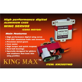 KM2607MD---high performance, 26g digital full CNC aluminium hulls and structure wing servo